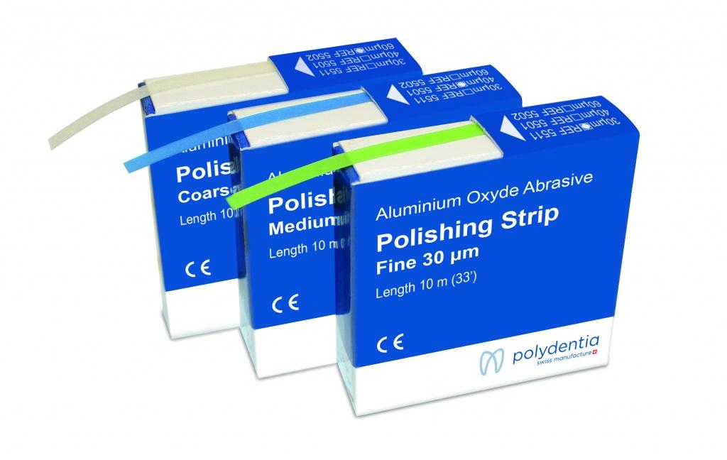 Abrasive polishing strips