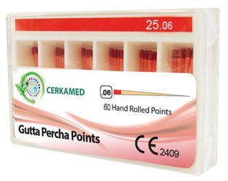 Gutaperčové čapy Cerkamed .06 ISO 15
