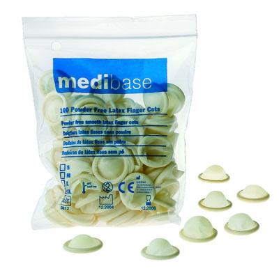 Náprstníky Medibase latexové nepúdrované – S, 5-983