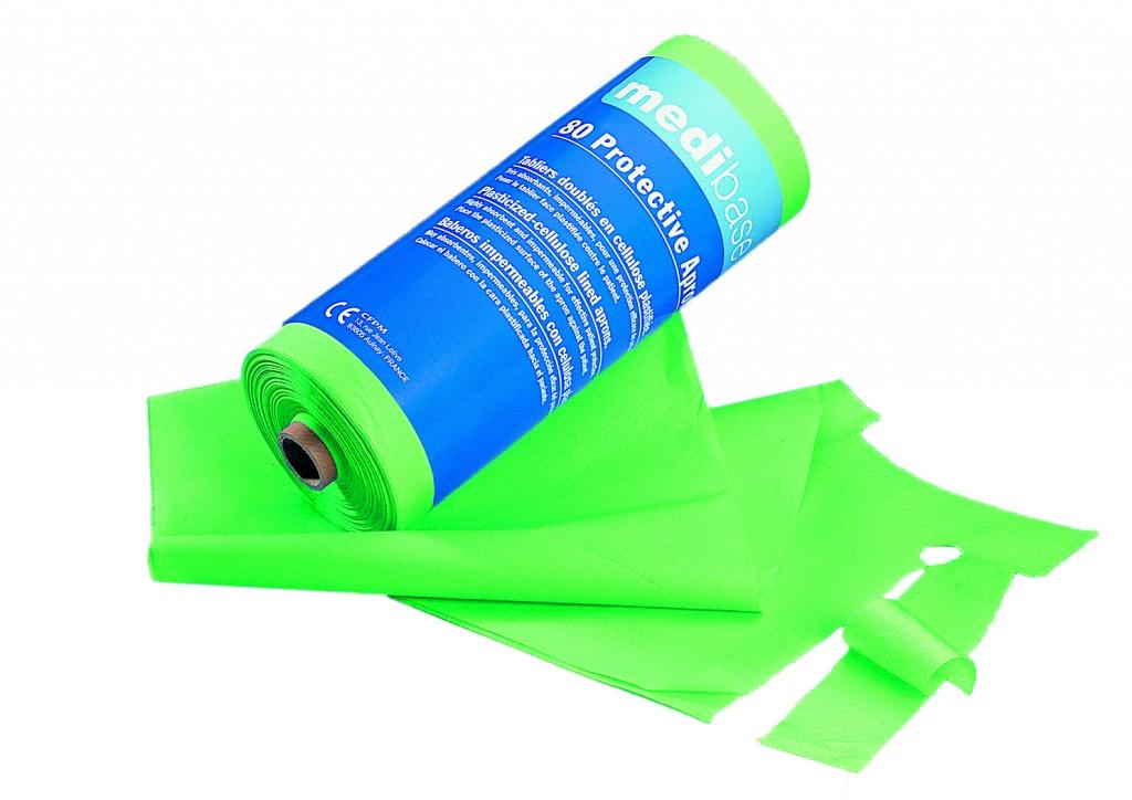Podbradníky Medibase v rolke plastové – Zelené, 5-510