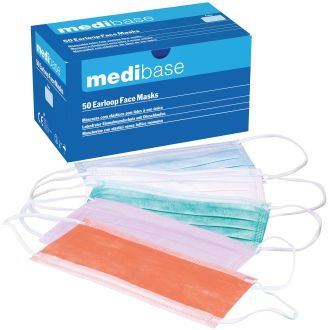 Masky Medibase s gumičkou – Biele, 5-714