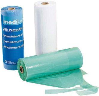 Podbradníky Medibase v rolke plastové – modré, 5-513
