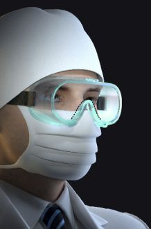 Medical Googles MG-1 ružové