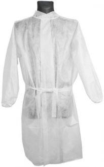 Ochranný plášť univerzálny biely